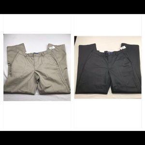 IZOD men's lot 2 pants black and beige size 31x32